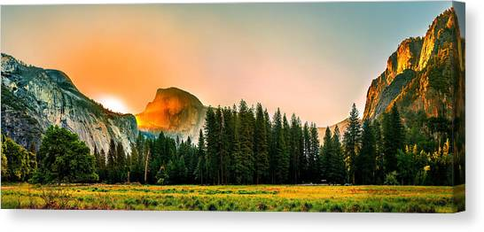 Yosemite Canvas Print - Sunrise Surprise by Az Jackson