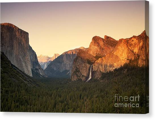 Cathedral Rock Canvas Print - Yosemite Valley Sunset by Jane Rix