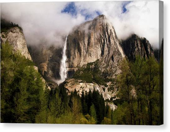 Yosemite Falls Canvas Print - Yosemite Valley View by Donna Kennedy