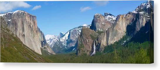 Yosemite Valley Visualized Canvas Print