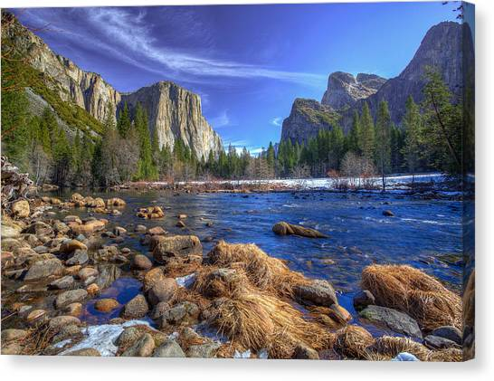 Yosemite Falls Canvas Print - Yosemite's Valley View by Mike Lee