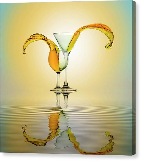 Martini Canvas Print - You And Me by Ganjar Rahayu