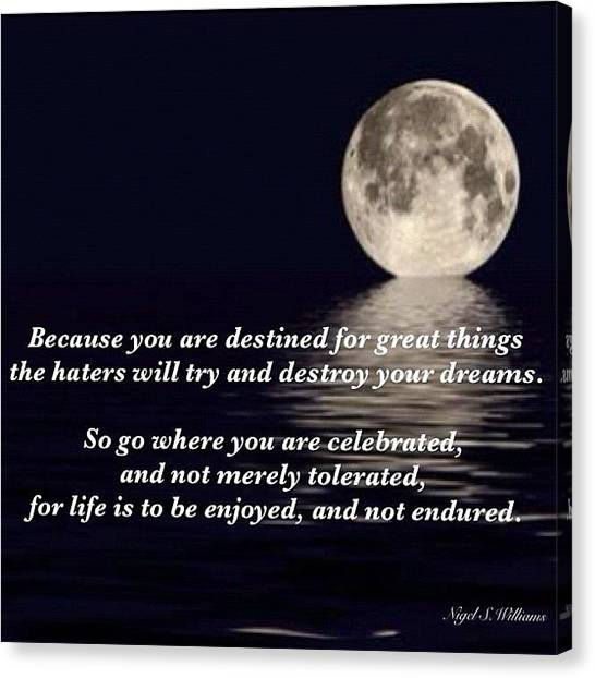 Bible Verses Canvas Print - You Are Destined For Greatness by Nigel Williams
