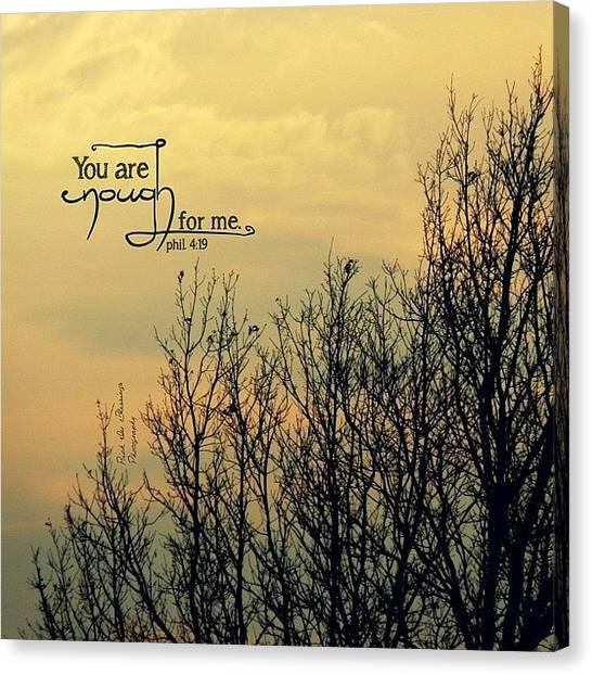 Pastel Canvas Print - you Are Enough For Me. What Love by Traci Beeson