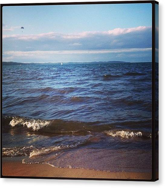 Lake Michigan Canvas Print - You Are Here by Laura Amos