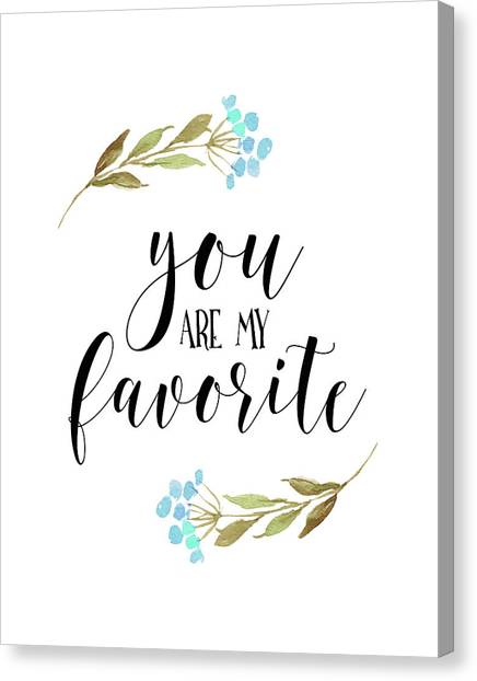 Wedding Day Canvas Print - You Are My Favorite Floral by Tara Moss
