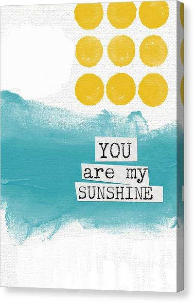 Marriage Canvas Print - You Are My Sunshine- Abstract Mod Art by Linda Woods