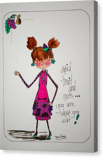 You Are What You Eat Canvas Print by Mary Kay De Jesus