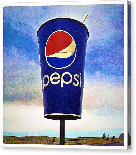 Pepsi Canvas Print - You Can Drink In This View Along by Alison Webster