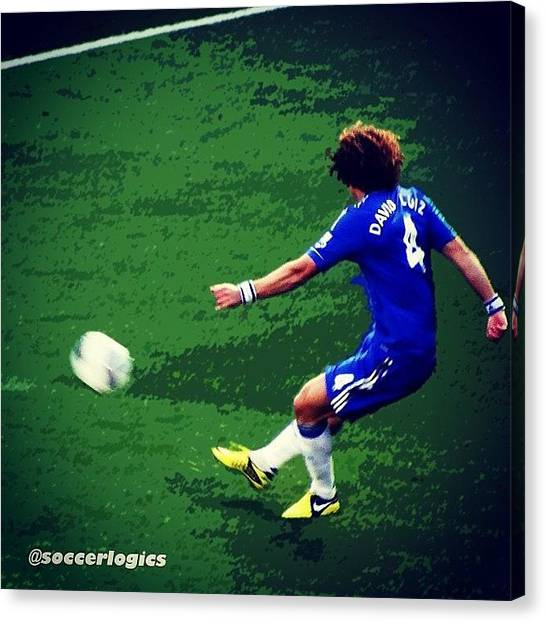 World Cup Canvas Print - You Can't Hate David Luiz #respect by Soccer Logics