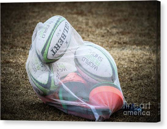 You Gotta Have Balls To Play Rugby Canvas Print