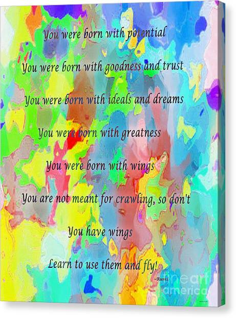 You Have Wings Canvas Print