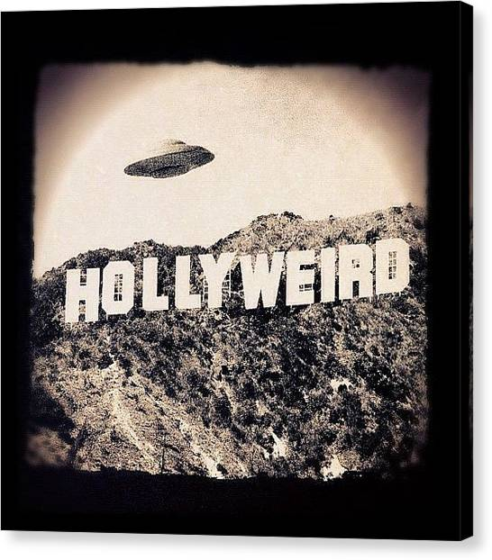 Ufos Canvas Print - You Know What I Mean. #thehood by David S Chang