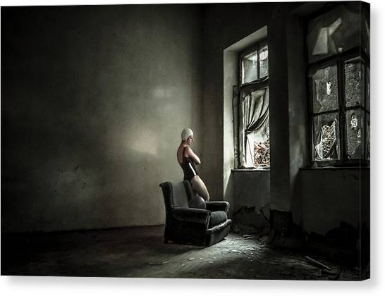 Decay Canvas Print - You Know Where Where Monica? by Luciano Corti