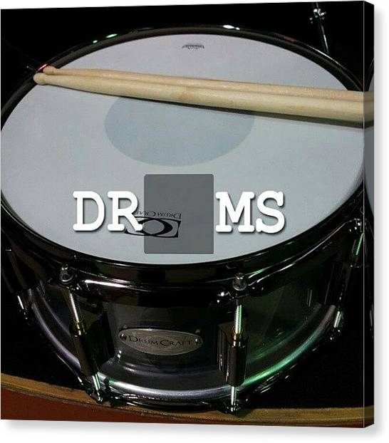 Snares Canvas Print - You Know You Wanna Double Tap That by The Drum Shop