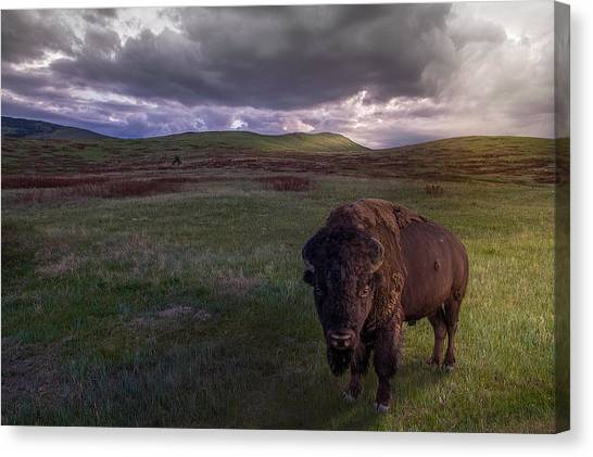 Prairie Sunsets Canvas Print - You May Not Pass by Mark Mesenko