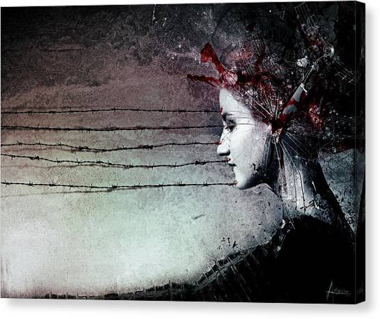 Floating Girl Canvas Print - You Promised Me A Symphony by Mario Sanchez Nevado