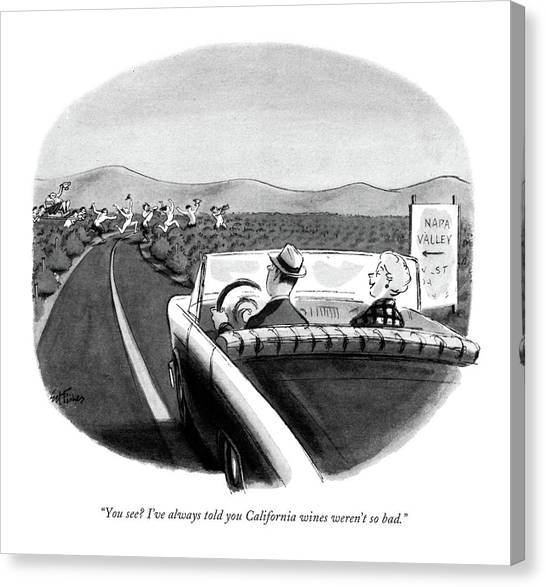 You See? I've Always Told You California Wines Canvas Print