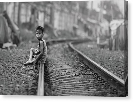 Railroads Canvas Print - Young And Dangerous by Gunarto Song
