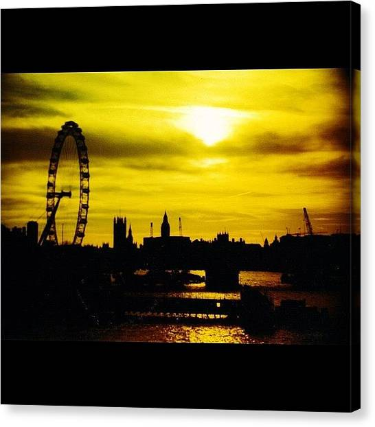 London Eye Canvas Print - Young And Old by Peter Bromfield