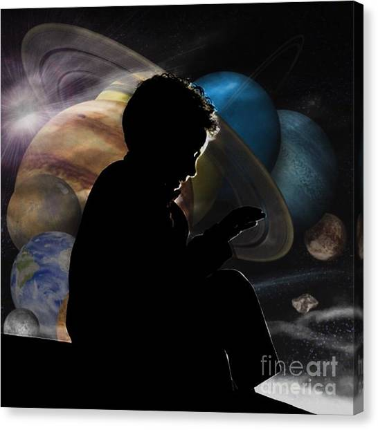 Young Astrophysicist - No.9188 Canvas Print