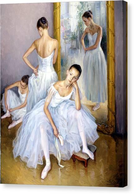 Young Ballerinas Canvas Print