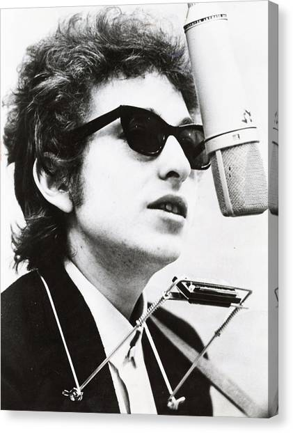 Music Canvas Print - Young Bob Dylan by Retro Images Archive