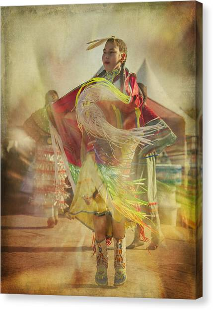 Young Canadian Aboriginal Dancer Canvas Print