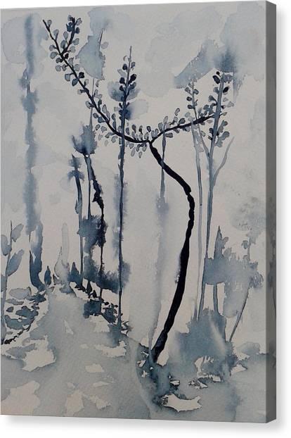 Young Chestnut In Blue Canvas Print by Carolina Nunez Diaz