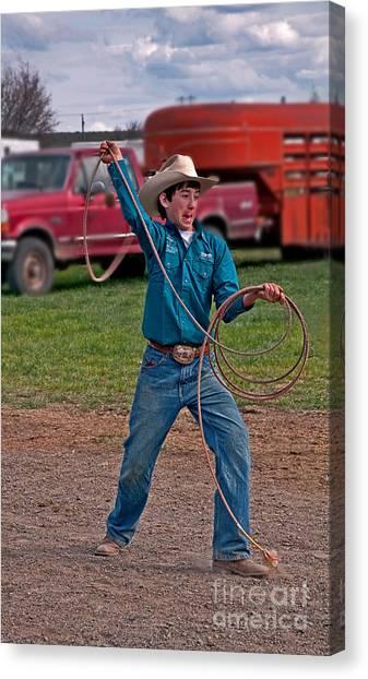 Young Cowboy  Canvas Print