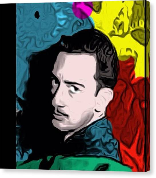 Famous Artists Canvas Print - #young #dali #salvadordali #painter by Dig Dug
