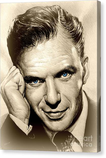 Frank Sinatra Canvas Print - Young Frank Blue Eyes by Andrew Read