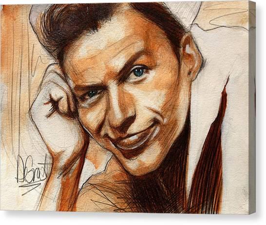 Young Frank Sinatra Canvas Print