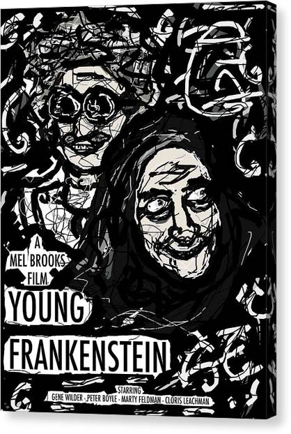 Young Frankenstein Poster Design Canvas Print