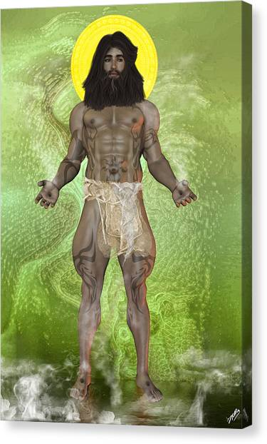 Atheism Canvas Print - Young God by Quim Abella