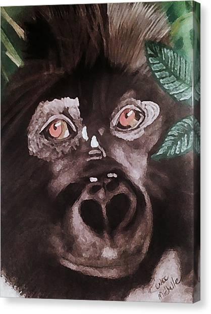 Young Gorilla Canvas Print
