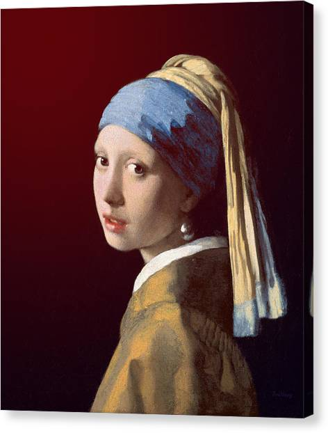 Canvas Print featuring the painting Young Lady by David Bridburg