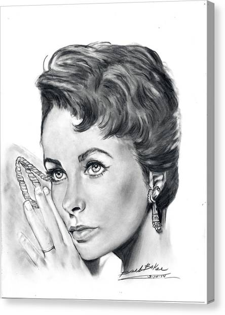 'young Liz' Canvas Print
