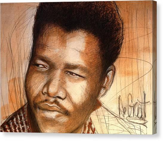 Young Mandela Canvas Print