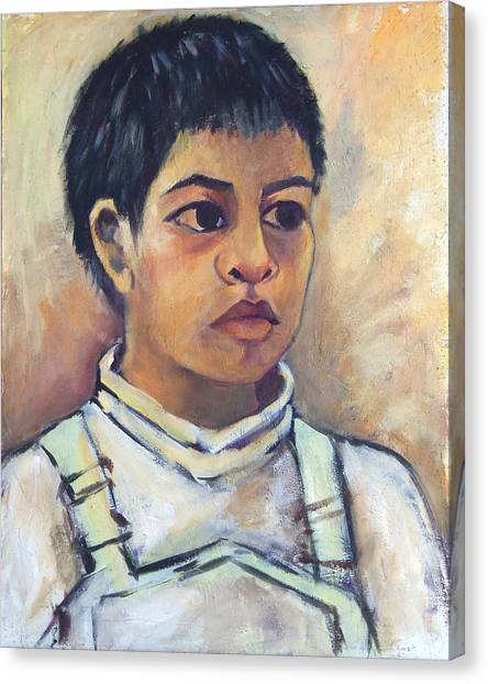 Young Mexican Boy Canvas Print