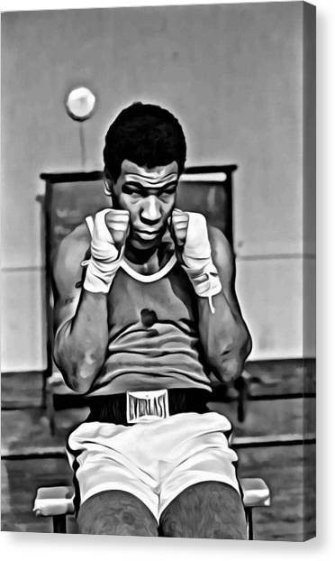 Mike Tyson Canvas Print - Young Mike Tyson by Florian Rodarte