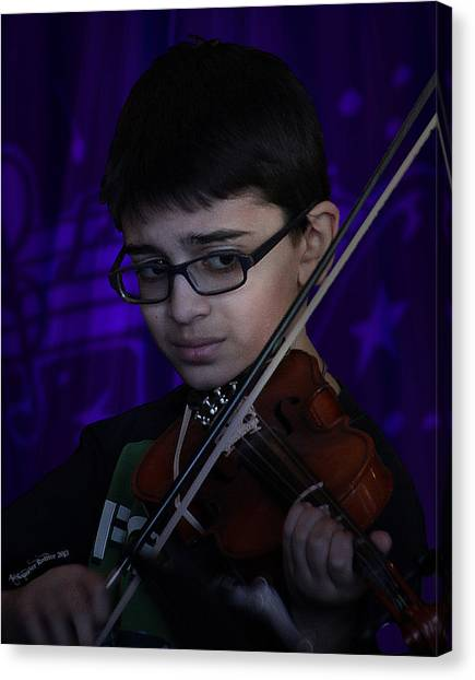Young Musician Impression # 5 Canvas Print