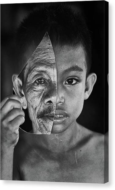 Young Or Old Canvas Print by Amaluddin