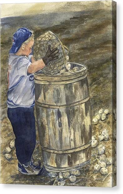 Young Picker 2 Canvas Print