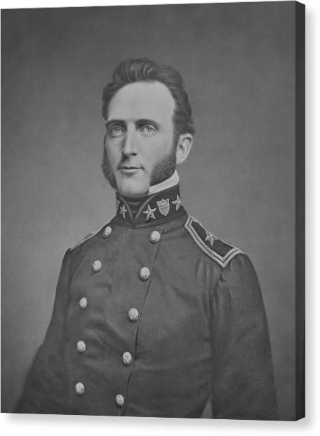 Stonewall Canvas Print - Young Stonewall Jackson  by War Is Hell Store