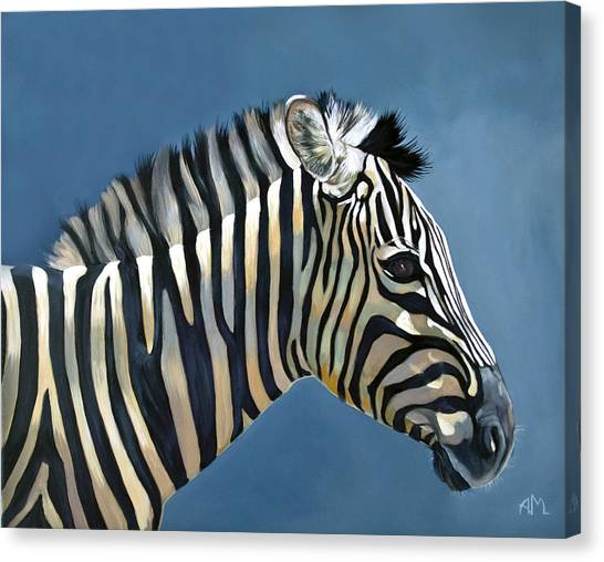 Canvas Print - Young Zebra by Antonio Marchese