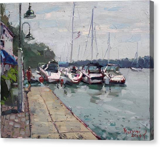 Yacht Canvas Print - Youngstown Yachts by Ylli Haruni