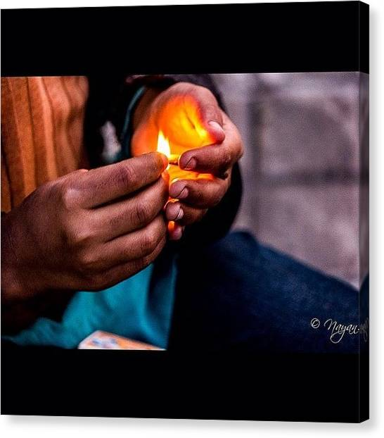 Hinduism Canvas Print - Your Little Light Is Like A Candle by Nayan Hazra