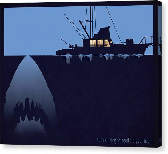 You're Going To Need A Bigger Boat Canvas Print by Dak Mannella