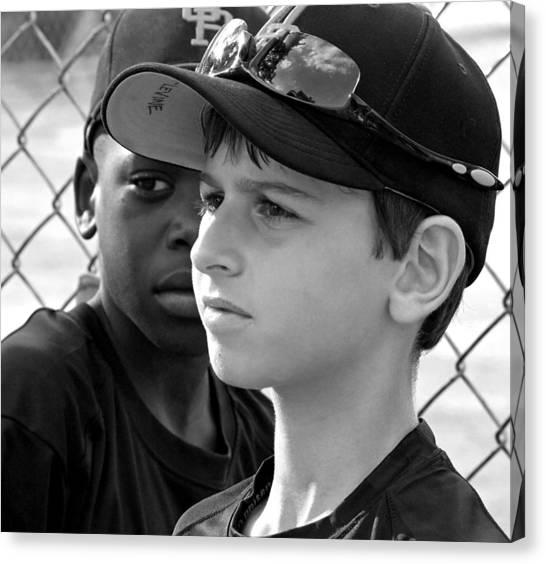 Youth Baseball 3 Canvas Print